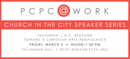 PCPC@WORK Speaker Series Featuring J.A.C. Redford